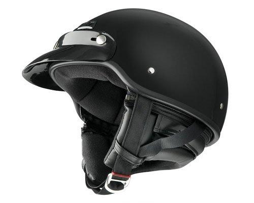 ハーレーダビッドソン、ドラッグスター、シャドー、バルカン等 Raider Deluxe レイダー デラックス ヘルメット Lサイズ つやあり グロスブラック