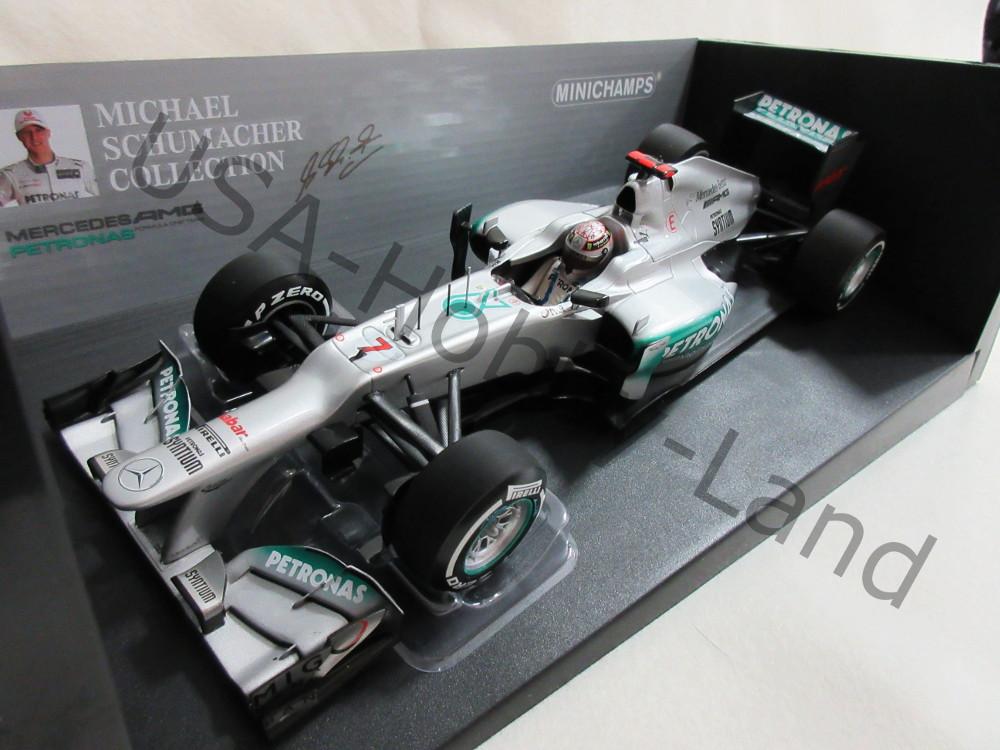 ミニチャンプス メルセデス AMG ペトロナス F1 チーム W3 2012 ベルギーGP ミハエル シューマッハ 1/18 F1参戦300戦目