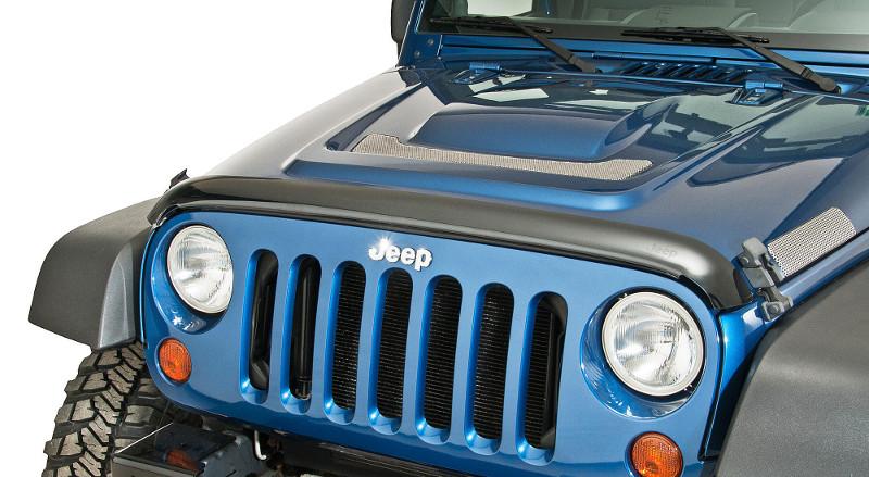 JEEP JKラングラー用 JEEPロゴ入り エアディフレクター バグガード 2007-