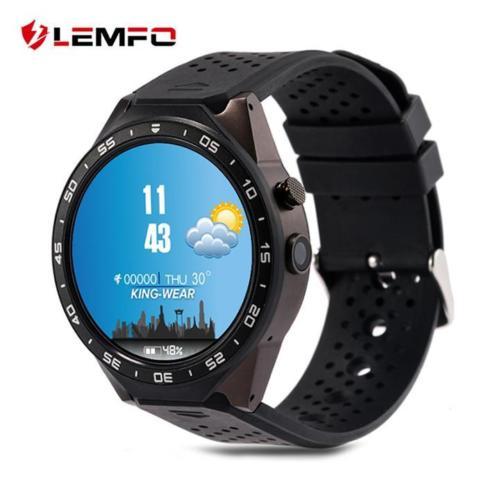LEMFO KW88 3G WIFI Smart Watch メッセジー通知 遠隔カメラ 歩数計 心拍モニター GPS定位 Google地図 Wechat 一体腕時計 Android 5.1対応 ブラック/ブラック