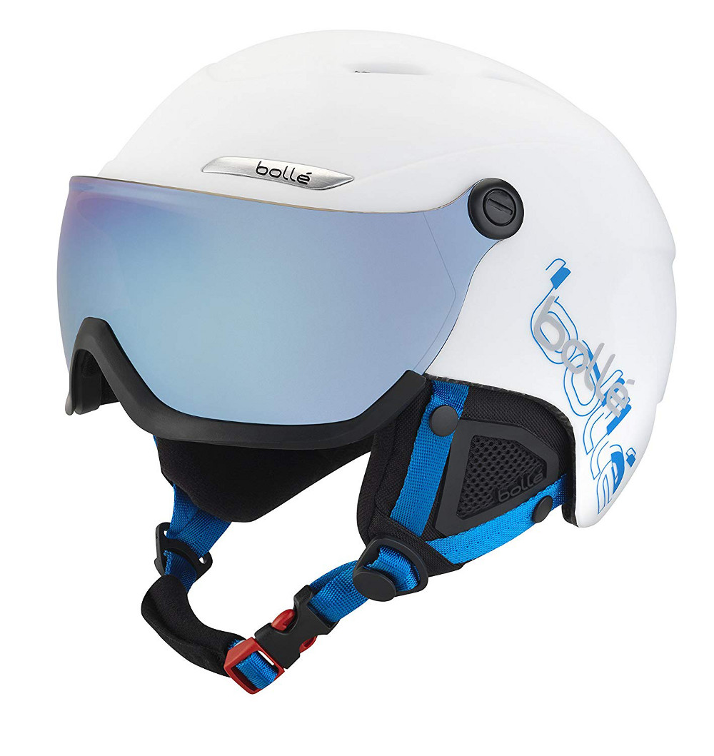 bolle B-YOND VISOR バイザー付ヘルメット ホワイト/ブルー 58-61cm Lサイズ