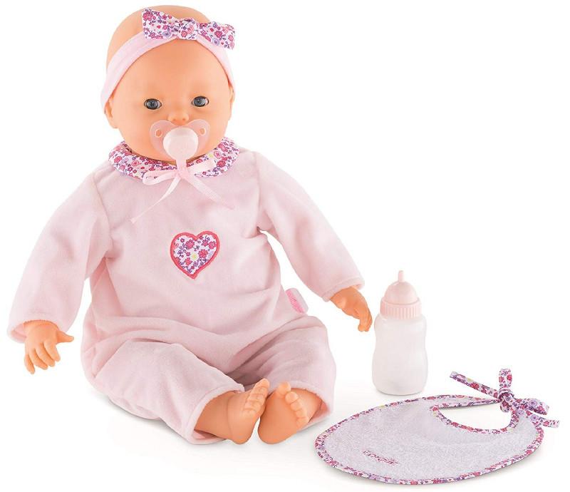 コロール社 Corolle Lila  5機能 お世話人形 ベビードール 42cm  おしゃぶり 哺乳瓶 よだれかけ付き