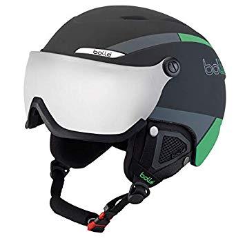bolle B-YOND VISOR バイザー付ヘルメット ブラック/グリーン 58-61cm Lサイズ