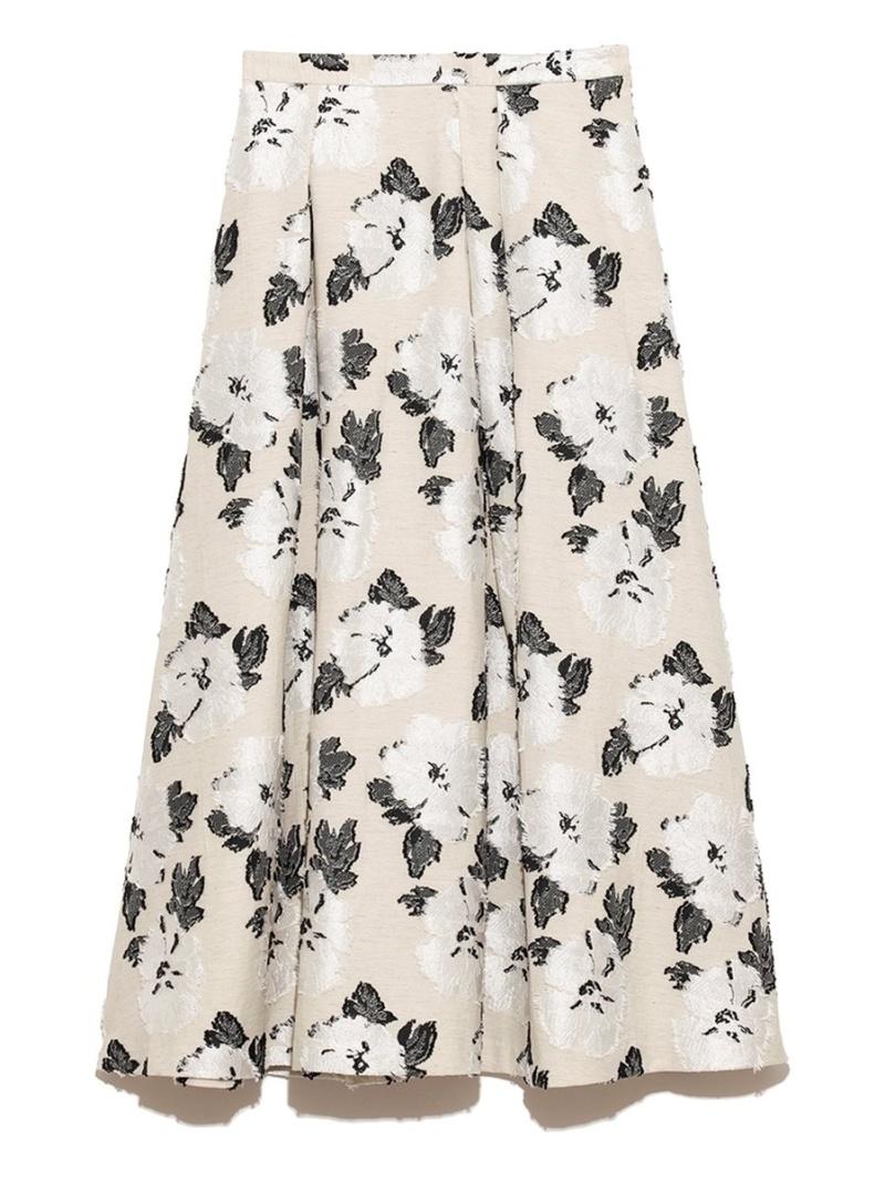 CELFORD レディース スカート 品質検査済 セルフォード SALE 50%OFF 花柄ジャガードスカート Fashion 送料無料 ミニスカート ホワイト 贈り物 RBA_E Rakuten オレンジ