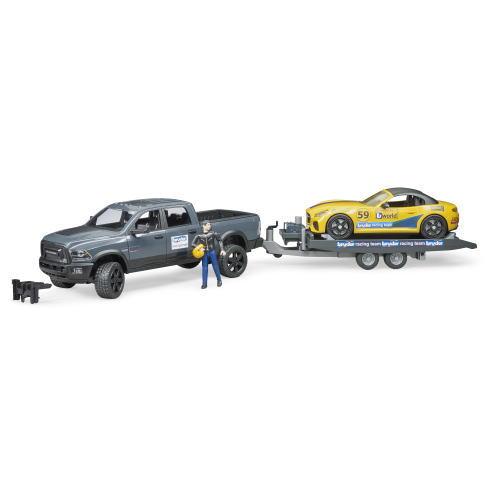 ブルーダー ram パワーワゴン&bruderロードスター レーシング仕様 25045ブルーダープロ bruderおもちゃ 男の子【送料無料(北海道、沖縄、離島は配送不可)】