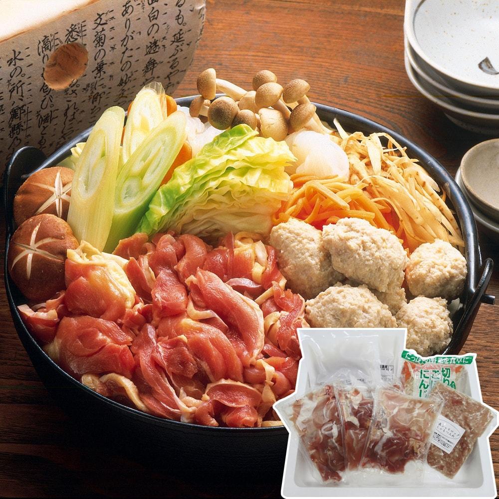 【ポイント最大10倍&送料無料】お中元 青森 地鶏シャモロック鍋セット
