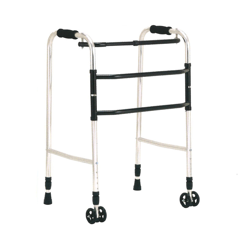 歩行器 アルミ製 交互歩行器 AL-100AS 折り畳み クリスケアー キャスター グリップ 歩行補助 リハビリ クリスタル産業 代引不可