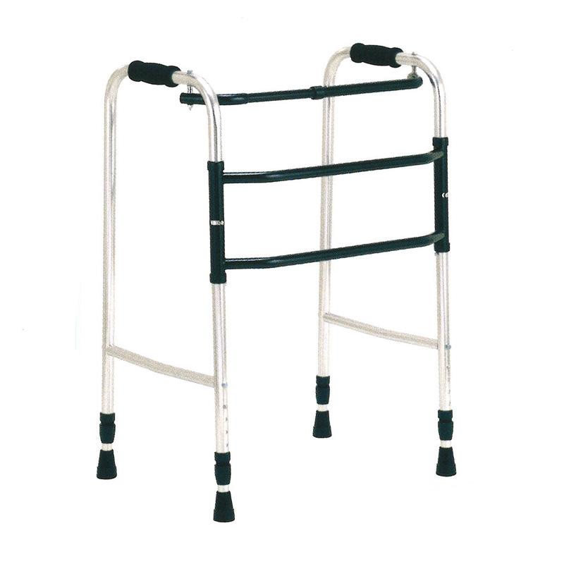歩行器 アルミ製 交互歩行器 AL-105L 折り畳み クリスケアー キャスター グリップ 歩行補助 リハビリ クリスタル産業 代引不可