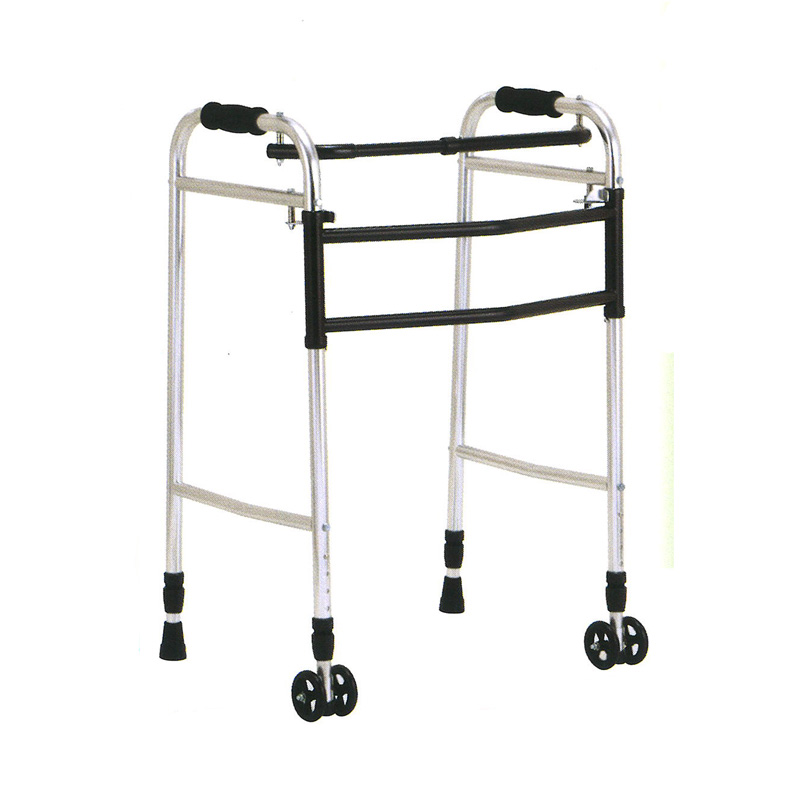 歩行器 アルミ製 交互 固定 兼用 歩行器 ウォーカー AL-117L 折り畳み クリスケアー キャスター グリップ 歩行補助 リハビリ クリスタル産業 代引不可