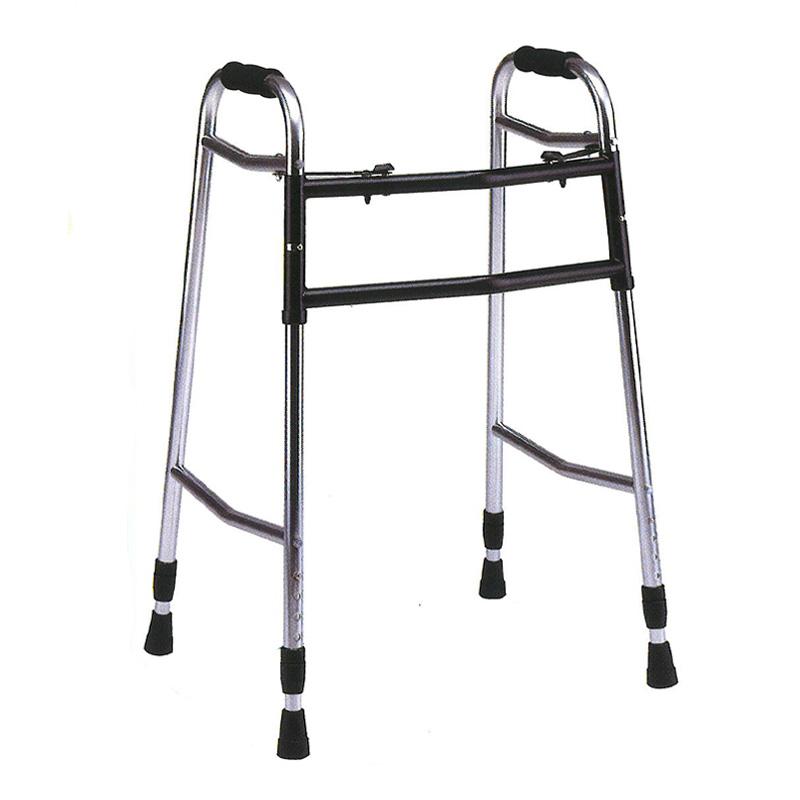 歩行器 アルミ製 ウォーカー 折り畳み型 歩行器 AL-106L クリスケアー キャスター グリップ 歩行補助 リハビリ クリスタル産業 代引不可