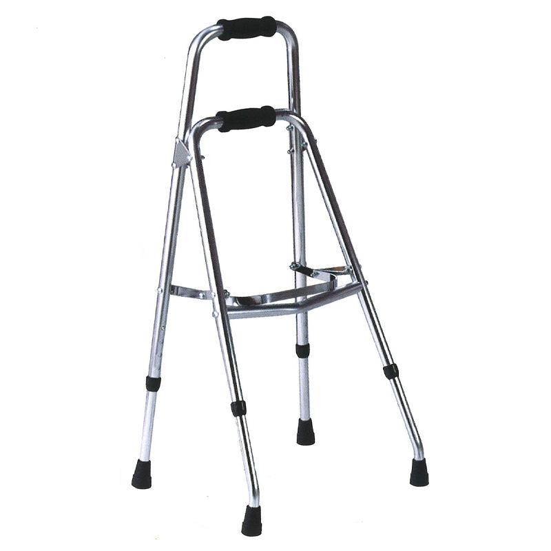 歩行器 アルミ製 サイドウォーカー 折り畳み型 歩行器 AL-103M クリスケアー キャスター グリップ 歩行補助 リハビリ クリスタル産業 代引不可
