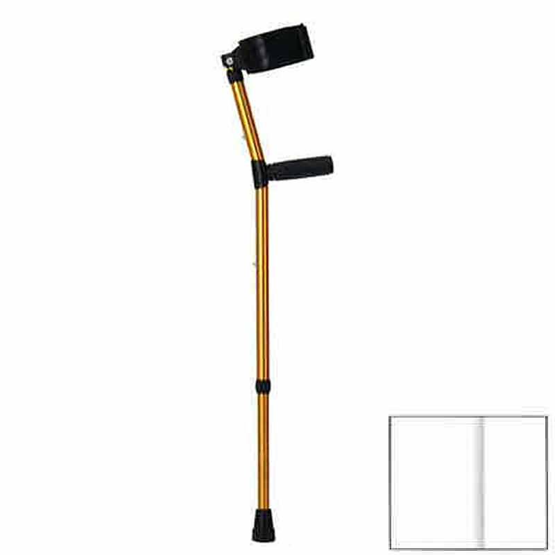 ロフストランドクラッチ Sサイズ KR-77RA ゴールド 杖 アンプティサッカー で使われる クリスタルケア 歩行補助 リハビリ クリスタル産業 代引不可