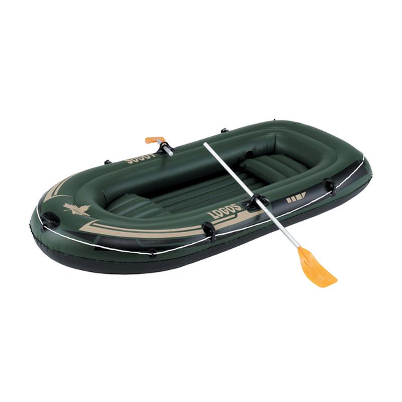 TRAIL BLAZER BOAT 240 No.66812001 LOGOS ロゴス ボート (約)280×81cm アルミパドル付 フットポンプ付 シバ D 送料無料