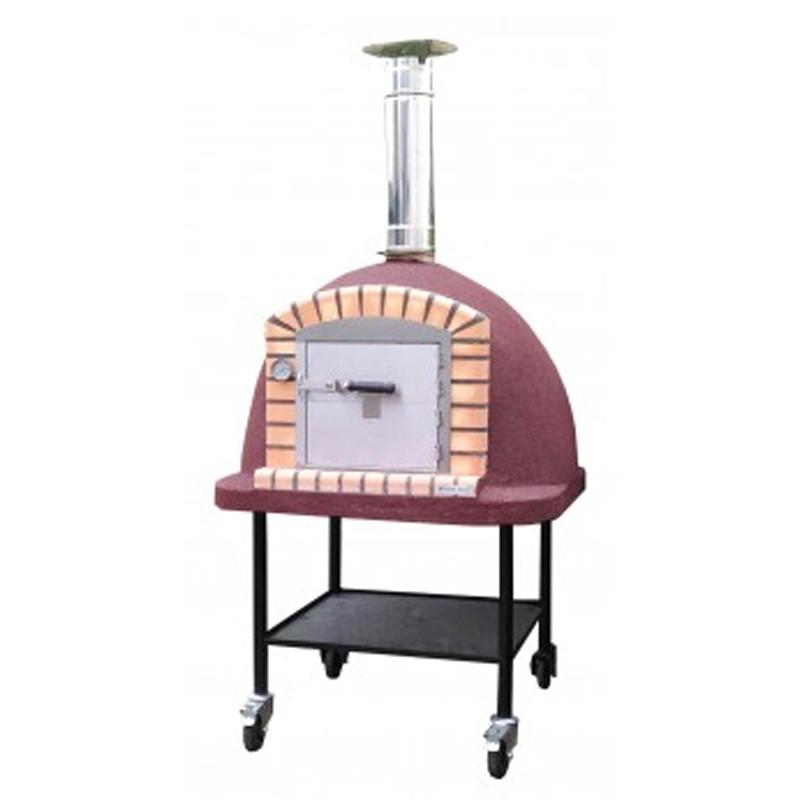 [北海道・沖縄・離島配送不可]ピザ窯ボルカノモービル Vulcano Mobile 薪窯オーブン PO21100 155cm(H)×100cm(W)×100cm(D) 五層仕様 岡植 [送料無料][代引不可]