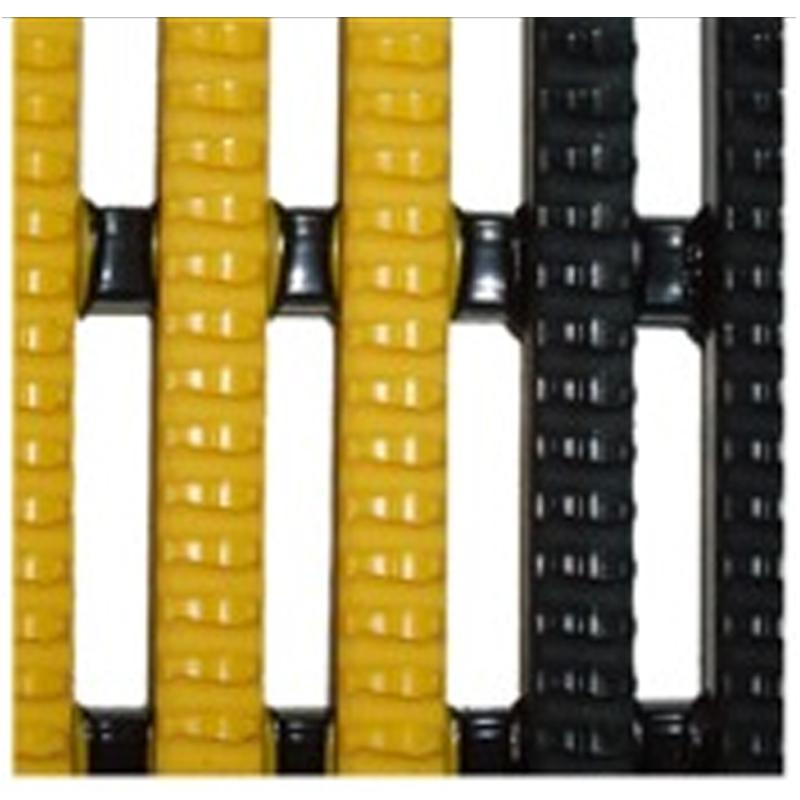 バイナグリップ No.VYN060X10BY ブラックイエロー 60cm×10m×15mm 置敷きタイプ スリップ防止 防滑性フロア プール用マット 防炎性 AMP 代引不可 送料無料