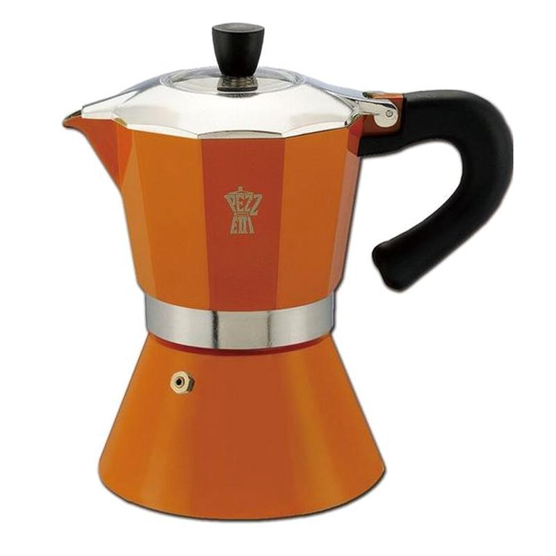 イタリアンスタイルの本格エスプレッソメーカー Pezzetti ベルエクスプレス6cup タイムセール PZ-BL6OR オレンジ コーヒー アウトドア 購入 代引不可 ダッチウエストジャパン エスプレッソ ダW レジャー ポット