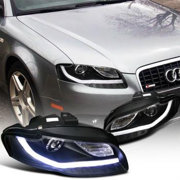 ☆送料無料☆USパーツ 海外メーカー輸入品 期間限定特別価格 アウディ ヘッドライト 2006-2008 Audi A4 Projector 期間限定の激安セール Headlights W DRLブラックSpecDチューニング SpecD Tuning DRL 2006-2008アウディA4プロジェクターヘッドライトW BMW BMWスタイルのLed Style Black Led