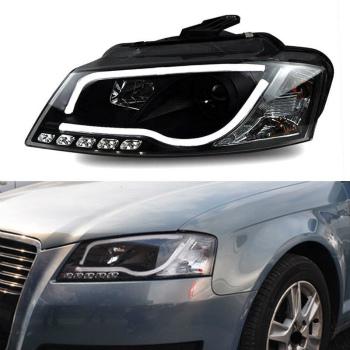 アウディ ヘッドライト Xenon+Lens+LED Daytime Running Light Headlight Assembly For Audi A3 2008-2012 アウディA3 2008年から2012年のためにライトヘッドライトアセンブリを実行キセノン+レンズ+ LEDデイタイム