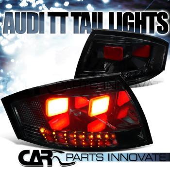 アウディ テールライト New Style For 99-06 Audi TT Quattro Glossy Black LED Tail Brake Signal Lights 99から06アウディTTクワトロ光沢のあるブラックLEDテールブレーキ信号光のための新しいスタイル