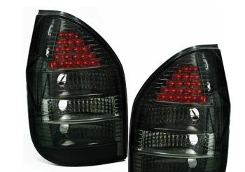 オペル テールライト Black smoked finish LED tail lights rear lights for Opel Zafira 99-05 ブラック仕上げのLEDテールライトをオペルザフィーラ99から05のための後部ライトスモーク