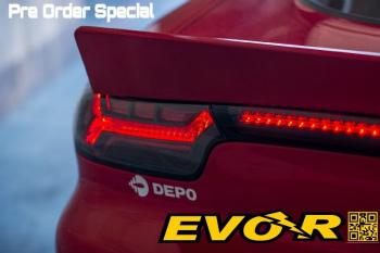 マツダ RX-7 テールライト EVO-R Mazda RX-7 FD3S RX7 LED Tail Lights DEPO Center Left Right 3 Pieces Rotary EVO-RマツダRX-7 FD3S RX7 LEDテールライトDEPOセンター左右3個のロータリー
