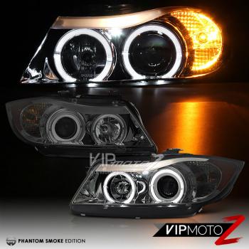 <title>☆送料無料☆USパーツ 海外メーカー輸入品 BMW ヘッドライト 2006 2007 2008 E90 3 SERIES Sedan DARK SMOKE Halo Angel Eye Headlights SET 超特価SALE開催 3シリーズセダン ハローエンジェルアイヘッドライトセット</title>