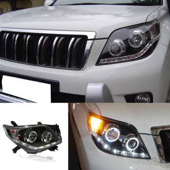 トヨタ ランドクルーザー ヘッドライト For Toyota Land Cruiser Prado 2010-13 Halo+HID Xenon Headlights Assembly+Ballast トヨタランドクルーザープラド2010-13ヘイロー+ HIDキセノンヘッドライトアセンブリ+バラストのために