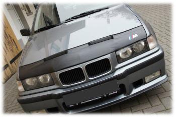 BMW ノーズブラ BMW 3 E36 1990-2000 + M LOGO BADGE EMBLEM CUSTOM CAR HOOD BRA BMW 3 E36 1990から2000 + M LOGO BADGE EMBLEM CUSTOM CAR HOOD BRA