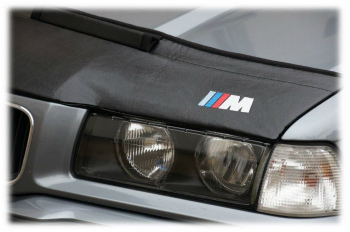 BMW ノーズブラ BMW 5 E34 1987-1996 + M LOGO BADGE EMBLEM CUSTOM CAR HOOD BRA BMW 5 E34 1987から1996 + M LOGO BADGE EMBLEM CUSTOM CAR HOOD BRA