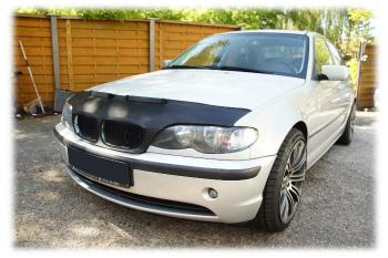BMW ノーズブラ BMW 3 E46 1998-2007 CUSTOM CAR HOOD BRA NOSE FRONT END MASK BMW 3 E46 1998年から2007年CUSTOM CAR HOOD BRA NOSEフロントエンドのMASK