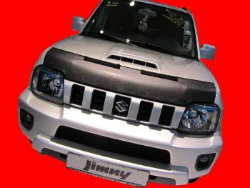 スズキ ジムニー ノーズブラ Suzuki Jimny 2011- CUSTOM CAR HOOD BRA NOSE FRONT END MASK スズキジムニー2011- CUSTOM CAR HOOD BRA NOSEフロントエンドのMASK