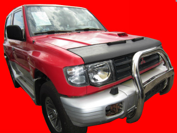 三菱 パジェロ ノーズブラ Mitsubishi Pajero Shogun 1990-2000 CUSTOM CAR HOOD BRA NOSE FRONT END MASK 三菱パジェロ将軍1990-2000 CUSTOM CAR HOOD BRA NOSEフロントエンドのMASK