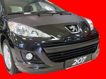 プジョー ノーズブラ Peugeot 207 2007- CUSTOM CAR HOOD BRA NOSE FRONT END MASK プジョー207 2007- CUSTOM CAR HOOD BRA NOSEフロントエンドのMASK