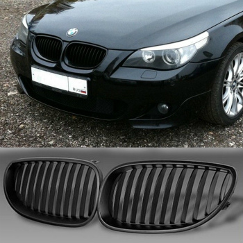 BMW グリル Front Black Sport Wide Kidney Grilles Grill For BMW E60 E61 M5 5 Series 03-09 BMW E60 E61 M5 5シリーズ03から09のフロントブラックスポーツワイド腎臓グリルグリル