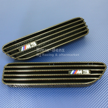 BMW グリル 2001-2006 BMW E46 M3 Carbon Look SIDE FENDER GRILLE GRILL VENT 2001-2006 BMW E46 M3カーボンルックサイドFENDER GRILLE GRILL VENT