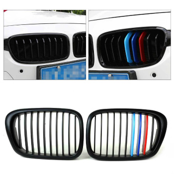 BMW グリル NEW ///M Color Front Gloss Wide Kidney Grille Grill for BMW 5 Series E39 1995-04 BMW 5シリーズE39 1995年から1904年のためのNEW /// Mカラーフロント光沢ワイド腎臓グリルグリル