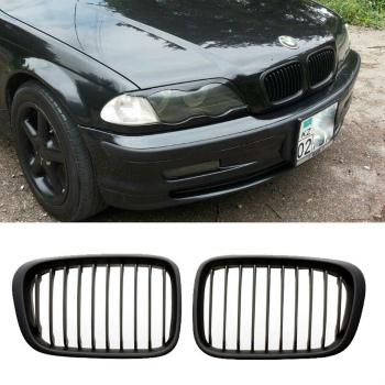BMW グリル E46 1998-2001 MATTE BLACK GRILL GRILLES For BMW 4 DOOR 320i 323i 325i 328i 330i BMW 4 DOOR 320iの323i 325I 328i 330IについてはE46 1998から2001 MATTE BLACK GRILLグリル