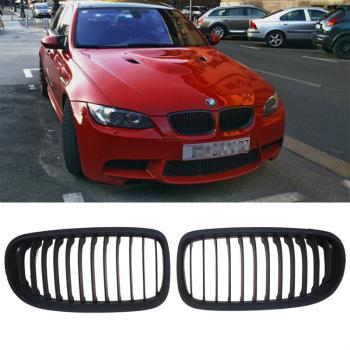 BMW グリル Matte Black Front Kidney Grill Grille For BMW E90 E91 325i 328i 335i 4D 08-12 BMW E90 E91 325I 328i 335iの4D 8月12日のためにマットブラックフロント腎臓グリルグリル