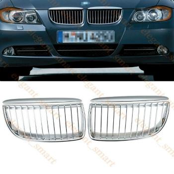 BMW グリル Chrome Kidney Front Grill Grilles For BMW E90 E91 M3 3 Series 4Door 2005-2008 BMW E90 E91 M3 3シリーズ4Door 2005年から2008年についてはChromeの腎臓フロントグリルグリル