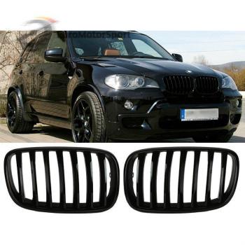 BMW グリル * Shiny Gloss Black Front Bumper Kidney Grille For BMW E70 X5 E71 X6 07-13 *シャイニーグロスブラックフロントバンパー腎臓グリルBMW E70 X5 E71 X6の7月13日のために
