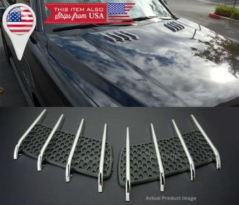 アウディ グリル Factory Look Hood Engine Vent Grille Grill Louvered Scoop Cover Kit For BMW Audi BMW、アウディのために工場ルックフードエンジンベントグリルグリルルーバースクープカバーキット