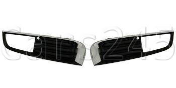 オペル グリル Bumper Fog Light Grills with Chromed Molding PAIR fits OPEL Insignia 2008-2013 クロームモールディングPAIRとバンパーフォグランプグリルはオペル・インシグニア2008から2013に適合する