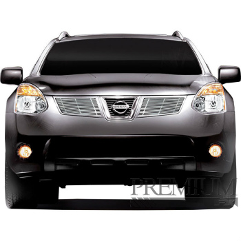 日産 Rogue グリル Premium FX 2pc Chrome Top Billet Grille Insert for 2008-2010 Nissan Rogue プレミアムFX 2PCクローム2008年から2010年の日産ローグのトップビレットグリルインサート