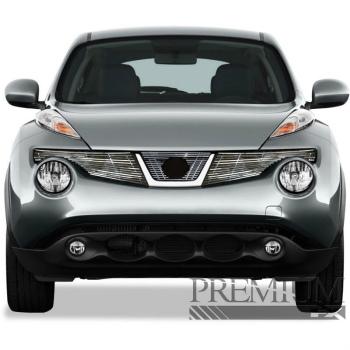 日産 ジューク グリル Premium FX 3pc Chrome Top Billet Grille Insert for 2011-2013 Nissan Juke プレミアムFX 3PC Chromeの2011から2013日産ジュークのトップビレットグリルインサート