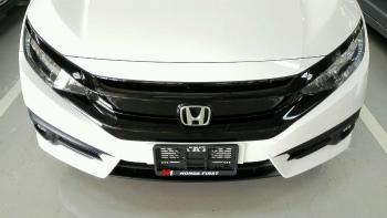 ホンダ シビック グリル Genuine Honda Black Molding Front Grille Assy 2016 Civic Turbo RS 1.5 Coupe 4Dr 本物のホンダブラック成形フロントグリルアッシー2016シビックターボRS 1.5クーペ4DR