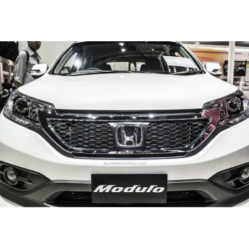 ホンダ CRV グリル For 2013 - 2014 Honda CRV Modulo Front Grill Grille Chrome Top Grade ABS 2013年 - 2014ホンダCRVモデューロフロントグリルグリルクロームトップグレードABS
