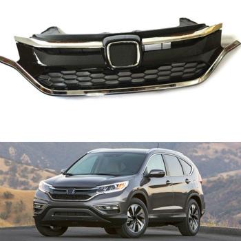 ホンダ CRV グリル Front ABS Chrome Grille Grill Overlay For Honda CRV 2015-2016 ホンダCRV 2015-2016のフロントABSクロームグリルグリルオーバーレイ