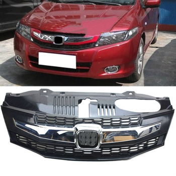 ホンダ City グリル Front ABS Chrome Grille Grill Overlay For Honda City 2009-2011 ホンダ・シティ2009-2011のフロントABSクロームグリルグリルオーバーレイ