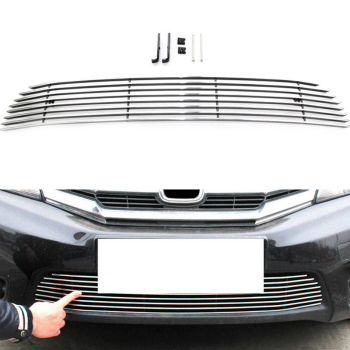 ホンダ City グリル Front Air-Inlet Grille Cover Trims Metal For Honda City 2012-2014 ホンダ・シティ2012-2014用フロントエア吸気グリルカバートリムメタル