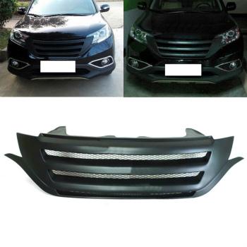 ホンダ CRV グリル Resin Fiber Front Matte Black Grill Grille Refit For Honda CRV 2012-2014 ホンダCRV 2012-2014用樹脂繊維フロントマットブラックグリルグリル修理